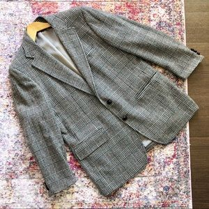 🌻Vintage🌻 Gray Plaid Houndstooth Jacket Blazer